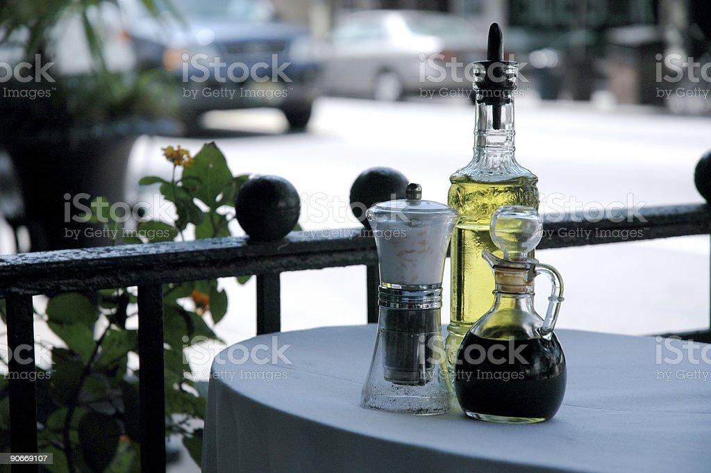 Oil,Vinegar,Salt royalty-free stock photo