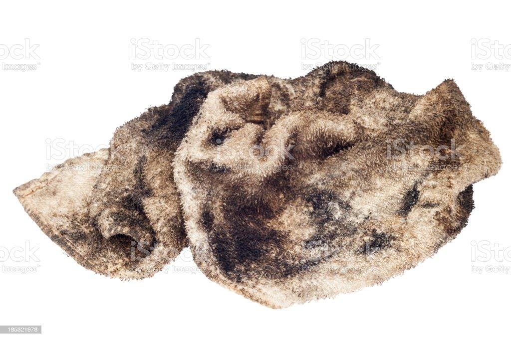 Oily rag isolated on white royalty-free stock photo