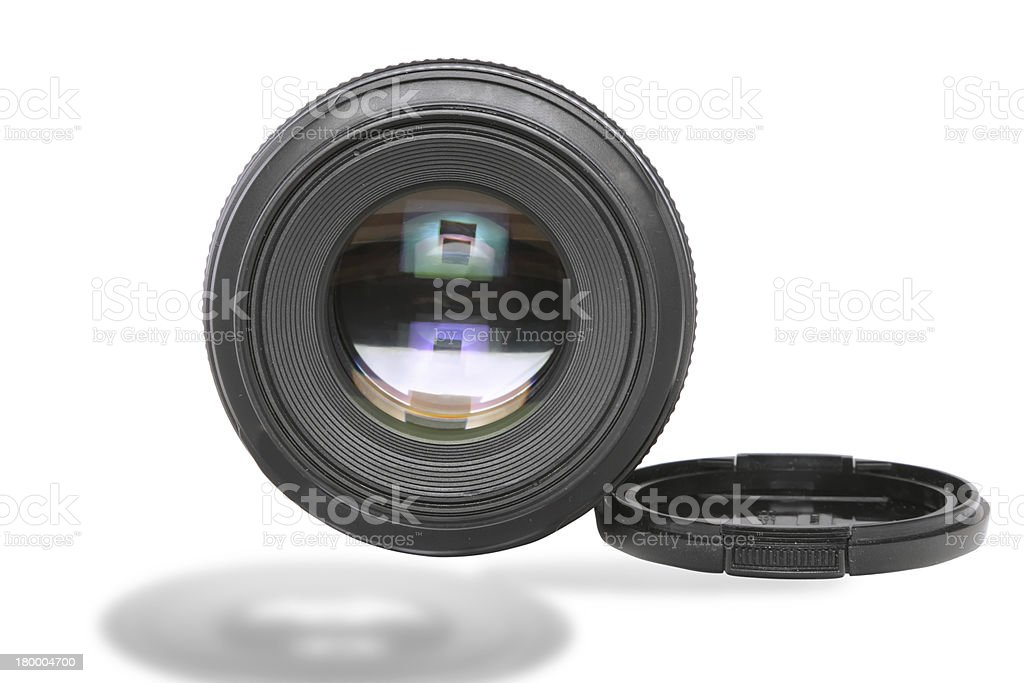 Ojective(Lens glass) isolated ion white. royalty-free stock photo