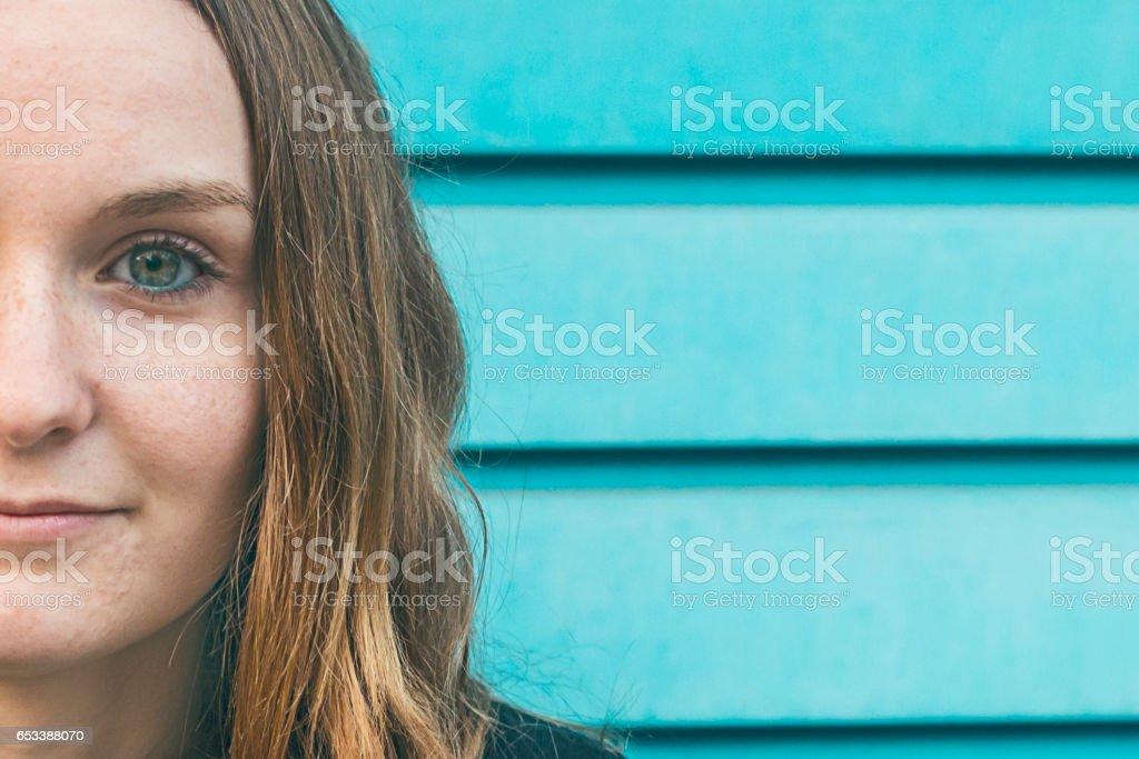 Ojos azules stock photo