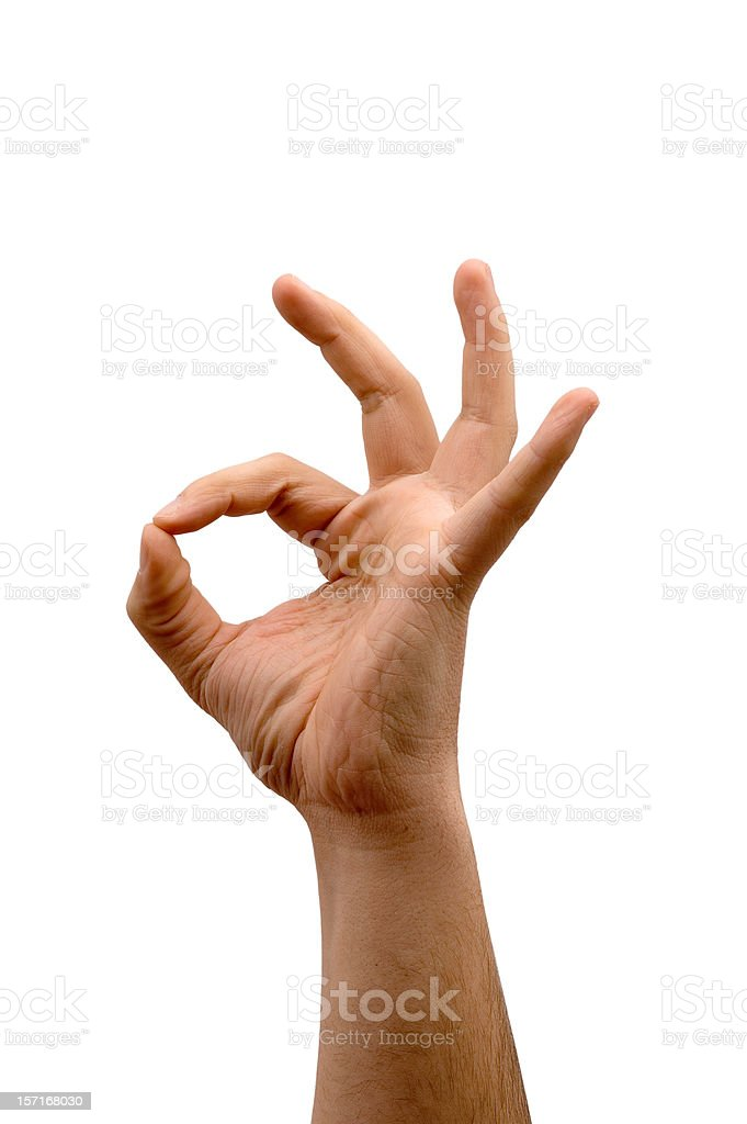 Ok Hand signal royalty-free stock photo