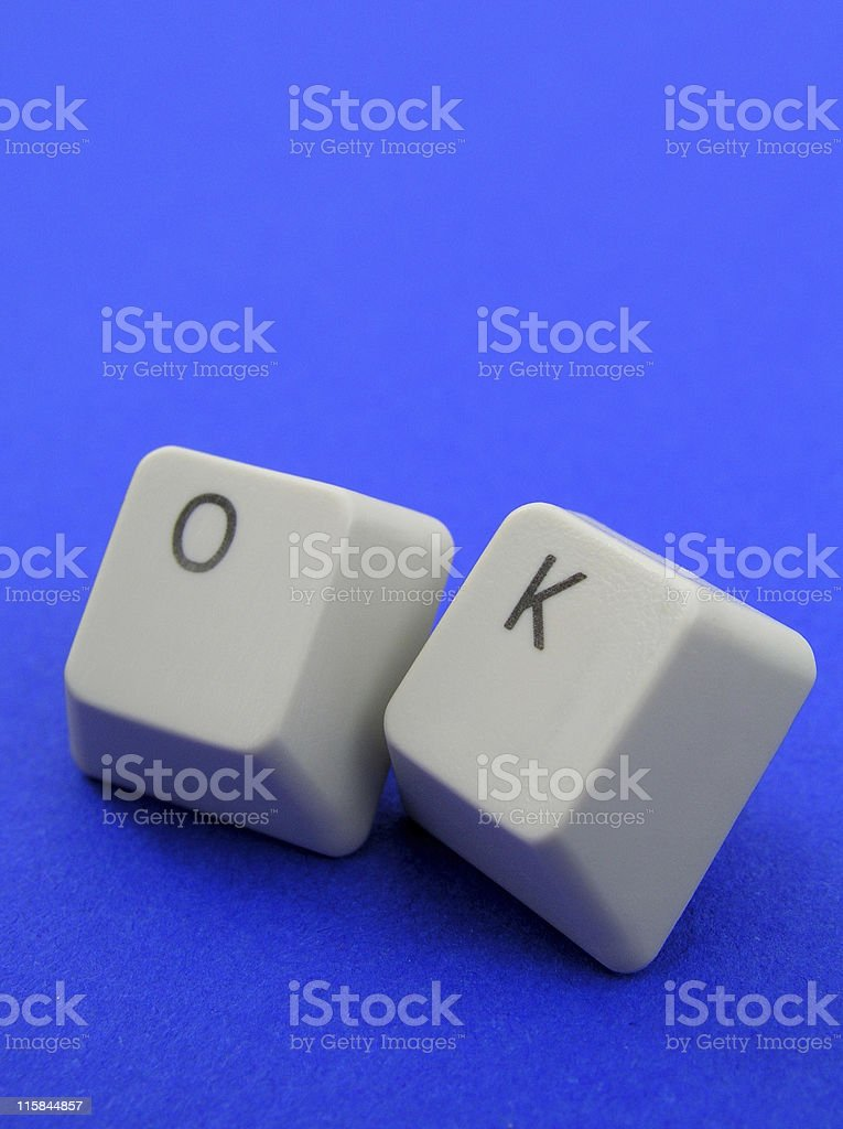 'Ok' spelled out with keyboard keys royalty-free stock photo