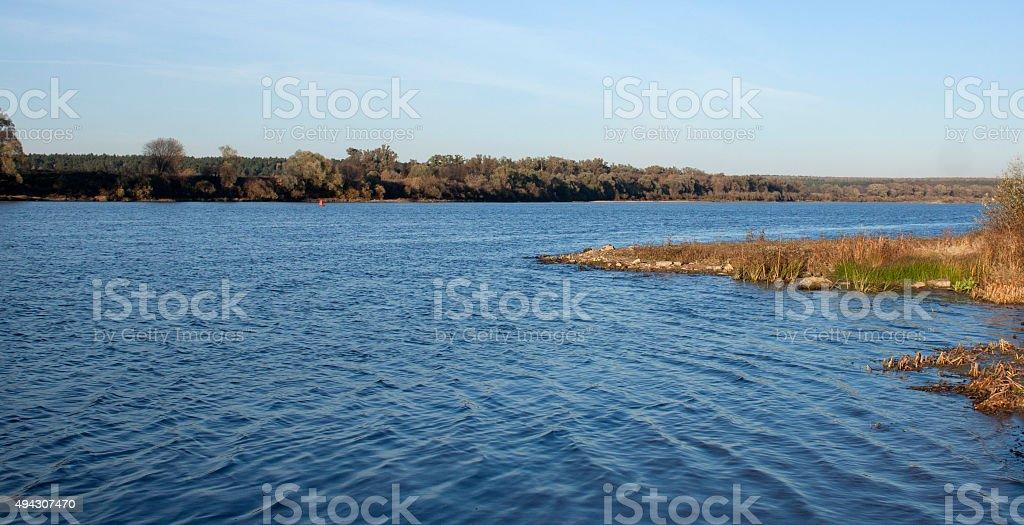 Oka River in Central Russia stock photo