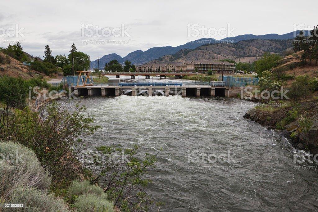 Okanagan Falls Dam stock photo