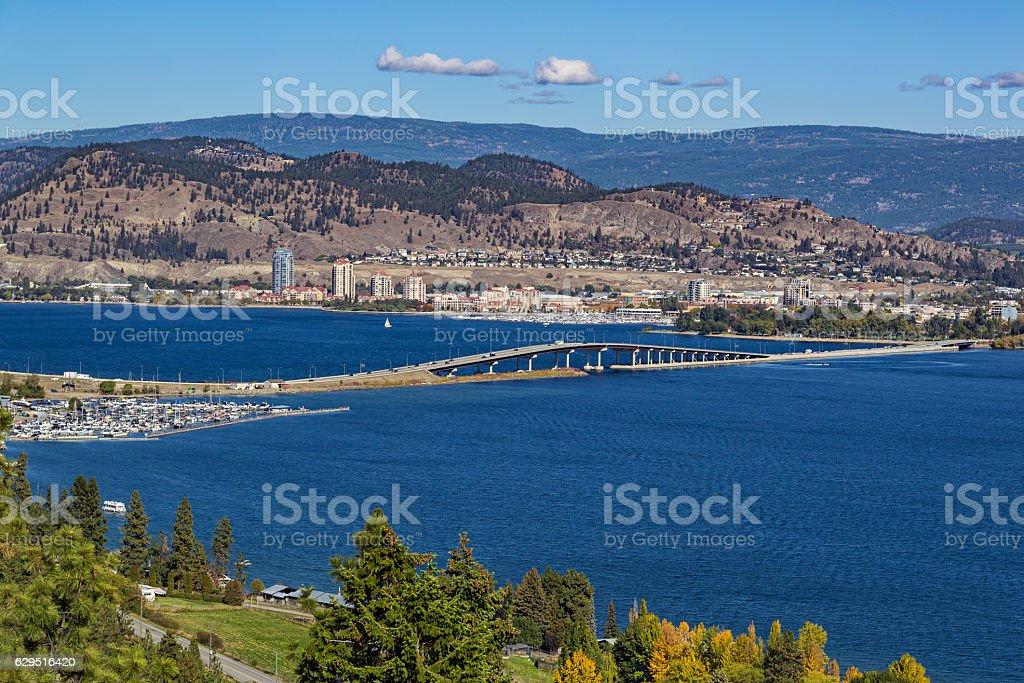 Okanagan Lake Bridge Kelowna BC Canada stock photo