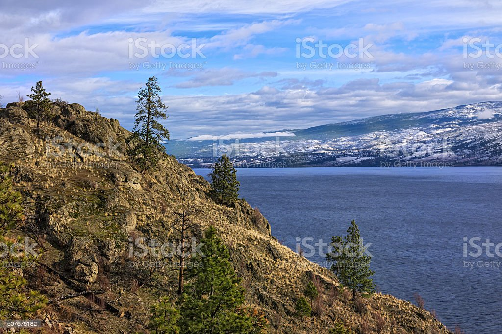 Okanagan Lake Kelowna British Columbia Canada stock photo