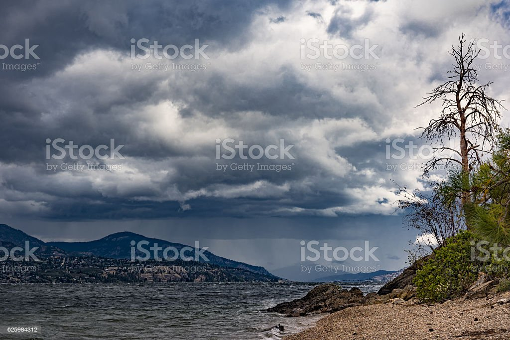 Okanagan Lake near Kelowna British Columbia Canada stock photo
