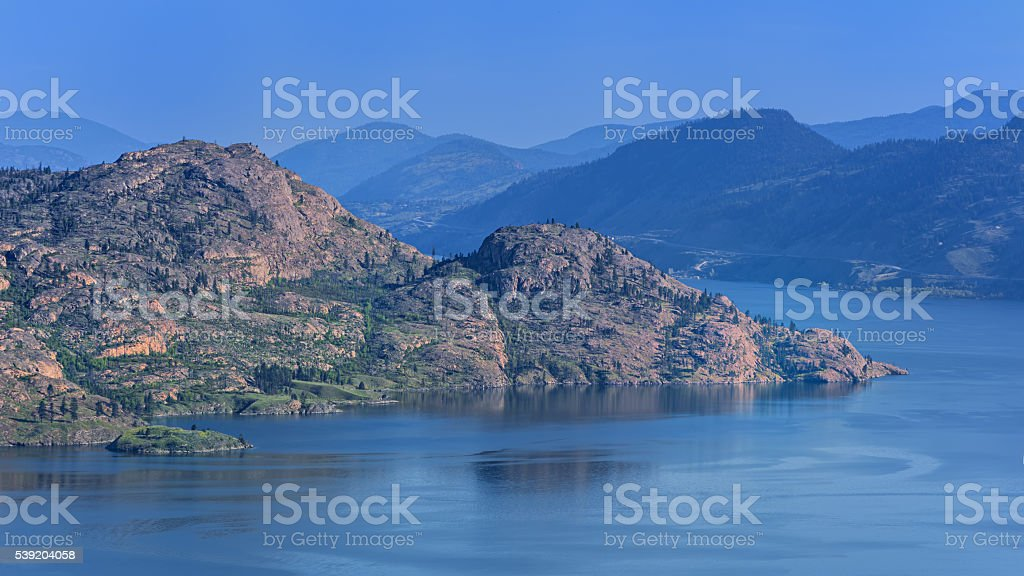 Okanagan Lake near Peachland British Columbia Canada stock photo
