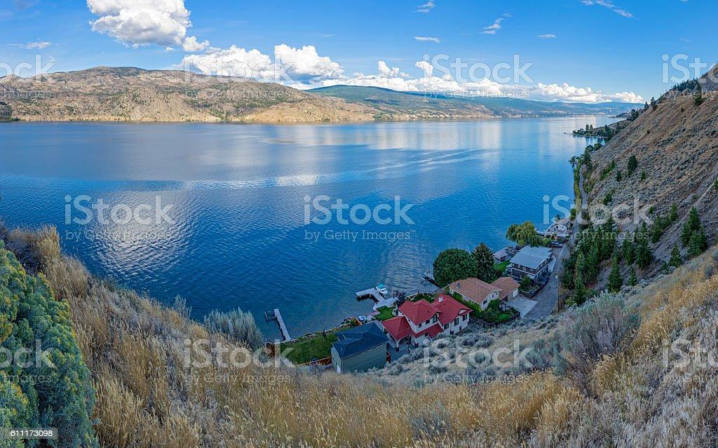 Okanagan Lake near Summerland British Columbia Canada stock photo