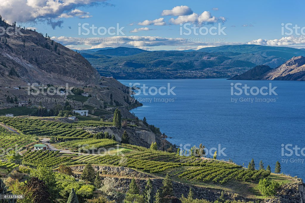 Okanagan Lake near Summerland British Columbia Canada stock photo