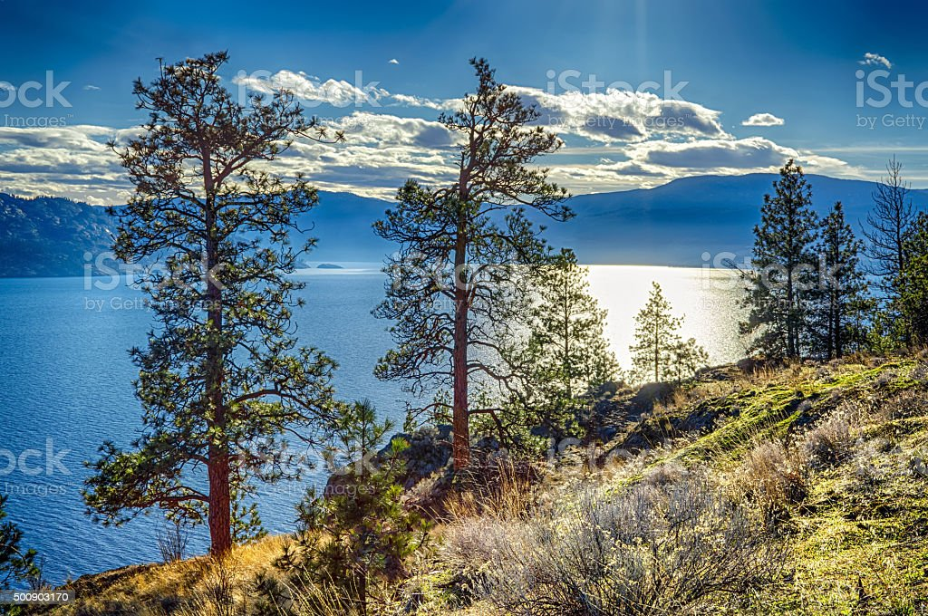 Okanagan Lake Peachland British Columbia Canada stock photo
