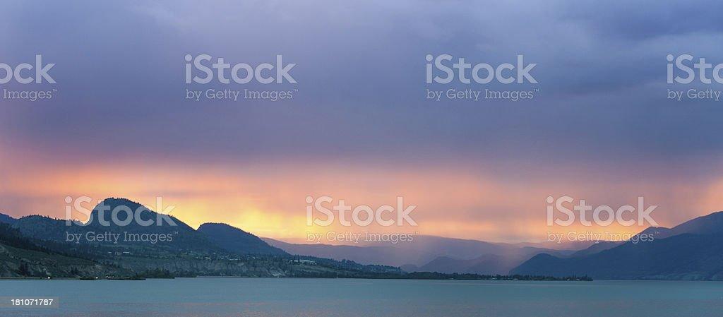 Okanagan Lake stock photo