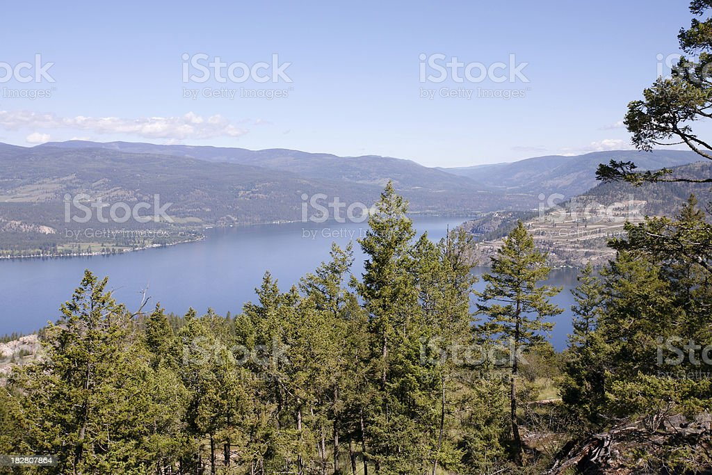 Okanagan Lake Vernon BC From Predator Ridge stock photo