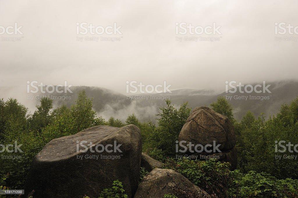 Okertal in fog stock photo