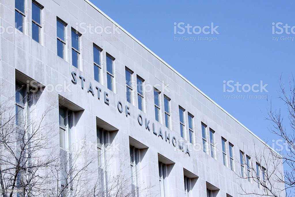 Okhahoma State Government Building royalty-free stock photo