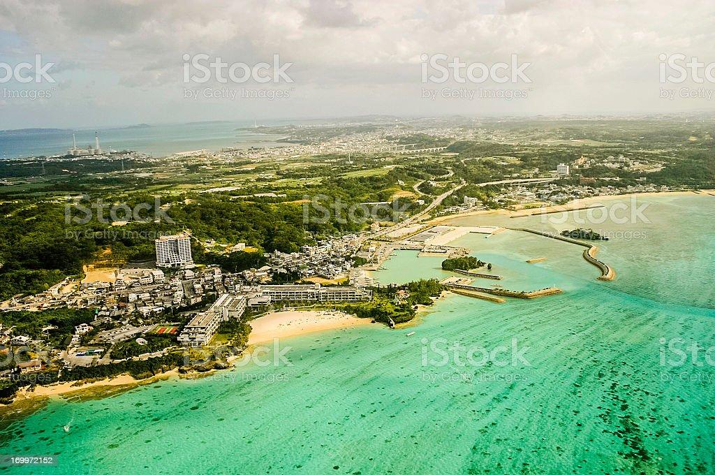Okinawa, Japan: Aerial View royalty-free stock photo