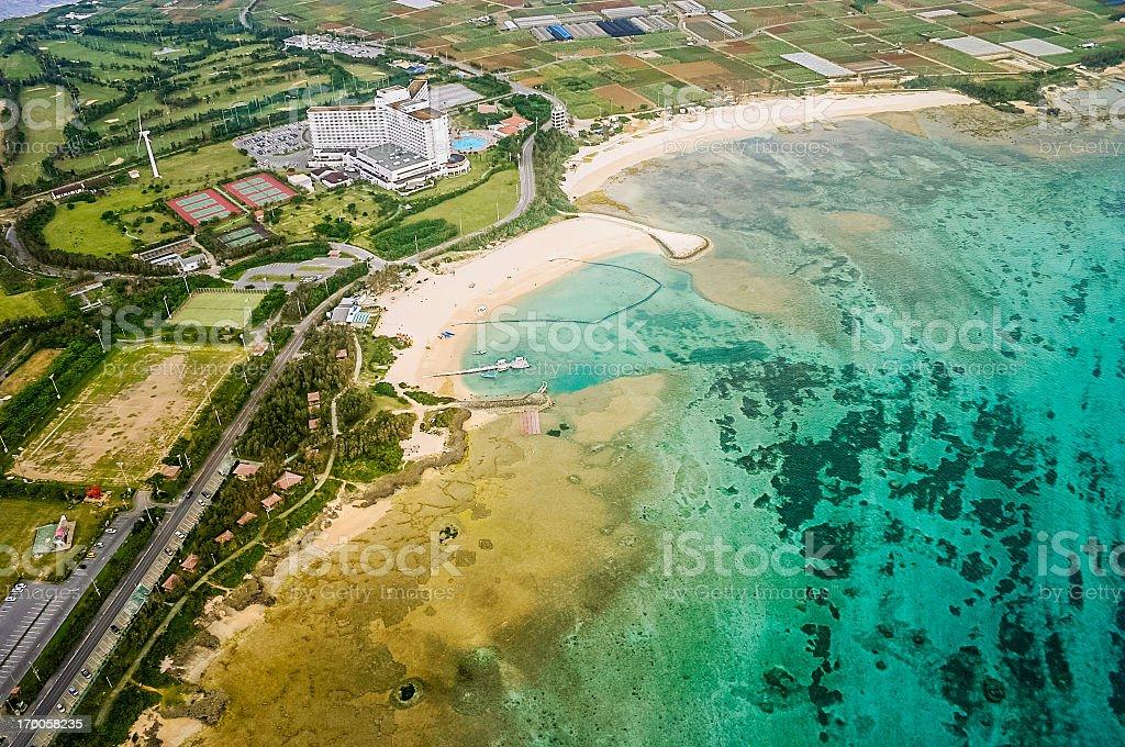 Okinawa, Japan: Aerial View stock photo