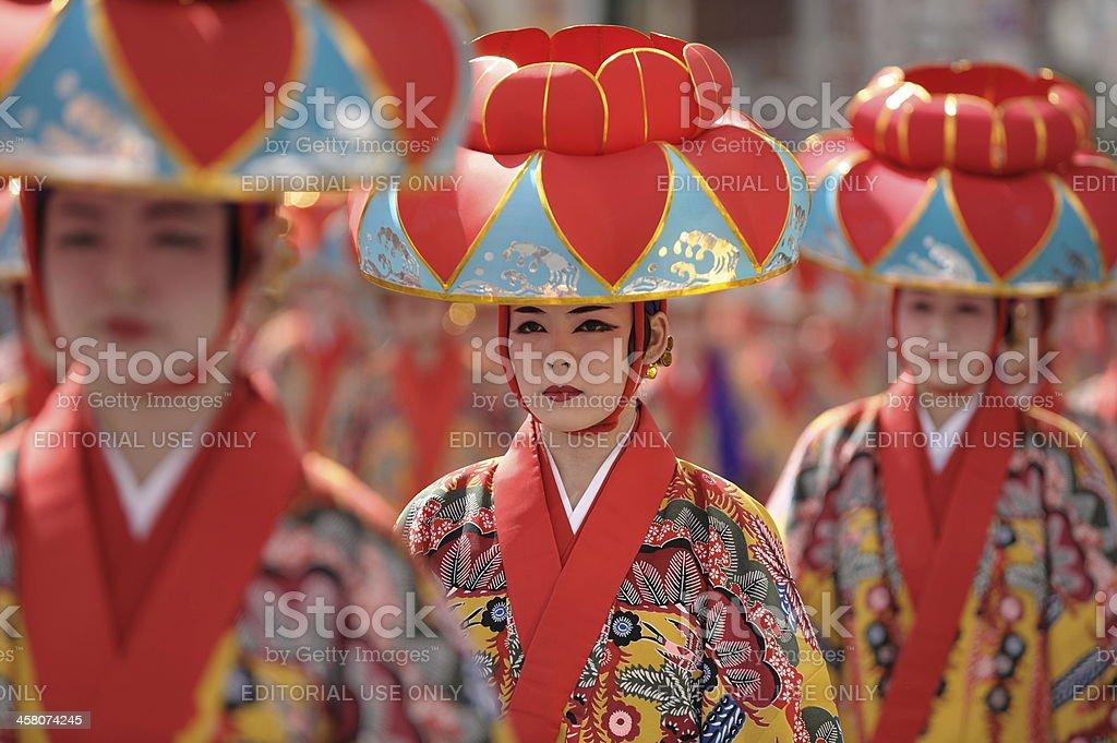 Okinawan Kimono stock photo