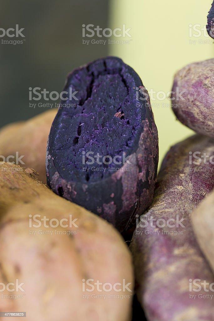 Okinawan Sweet Potato stock photo