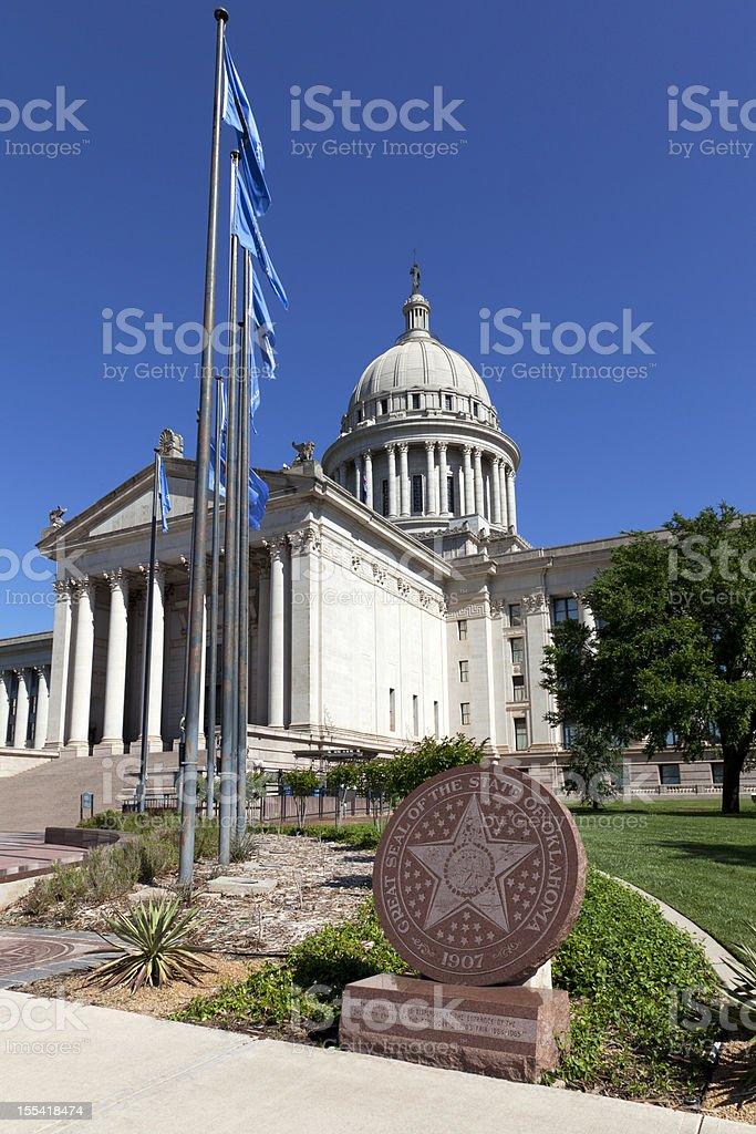 Oklahoma Capitol Building stock photo
