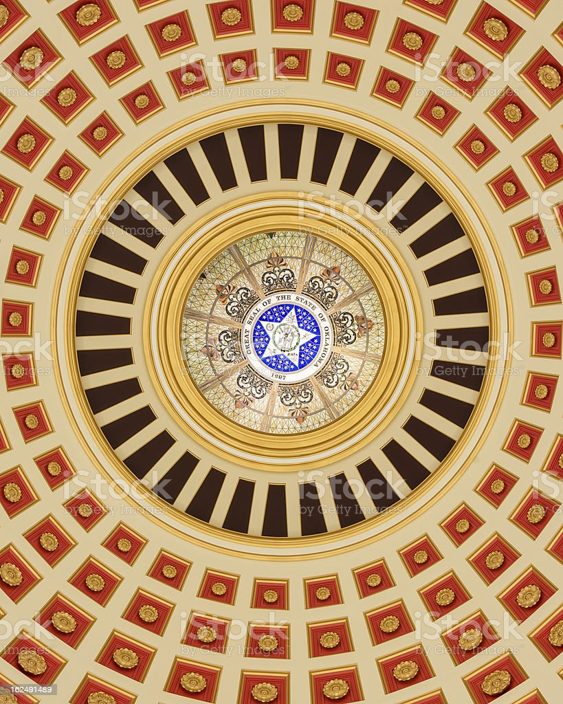 Oklahoma Capitol Dome Interior royalty-free stock photo