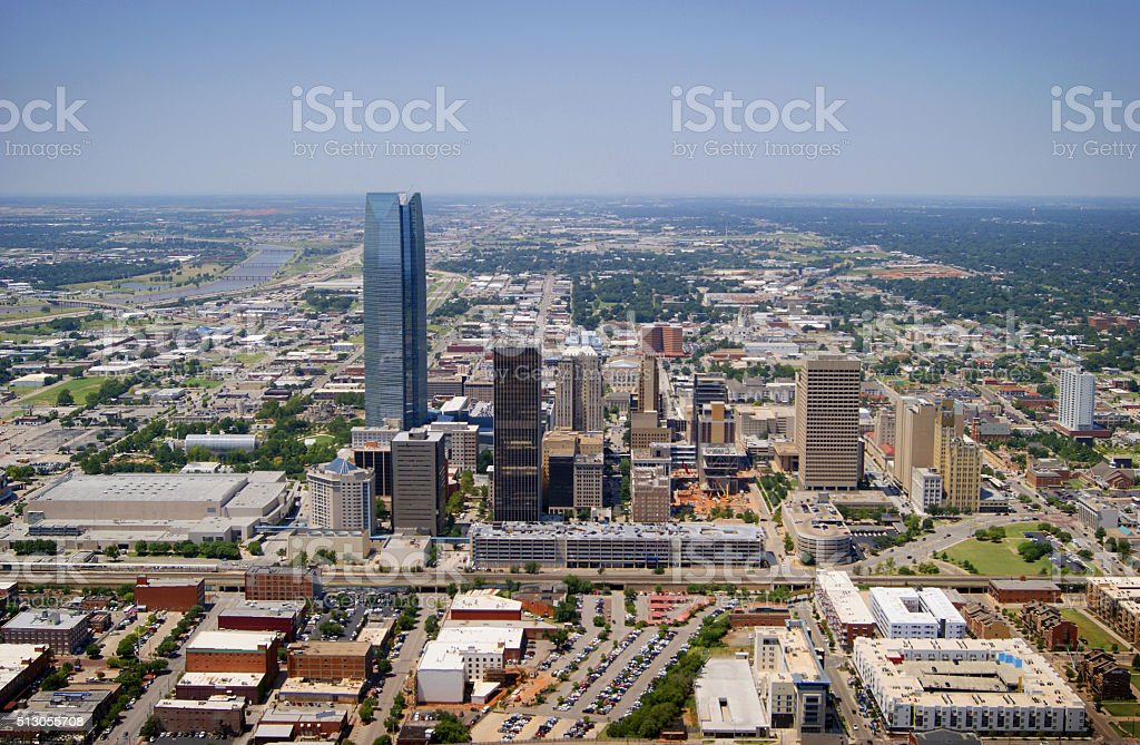 Oklahoma City Aerial View stock photo