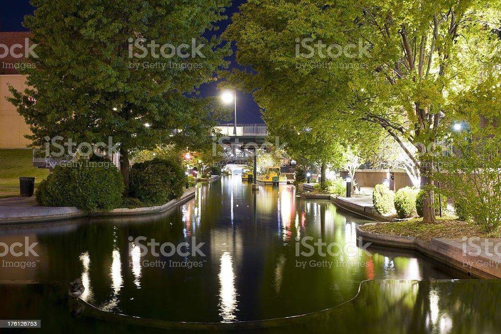 Oklahoma City - Bricktown Canal royalty-free stock photo