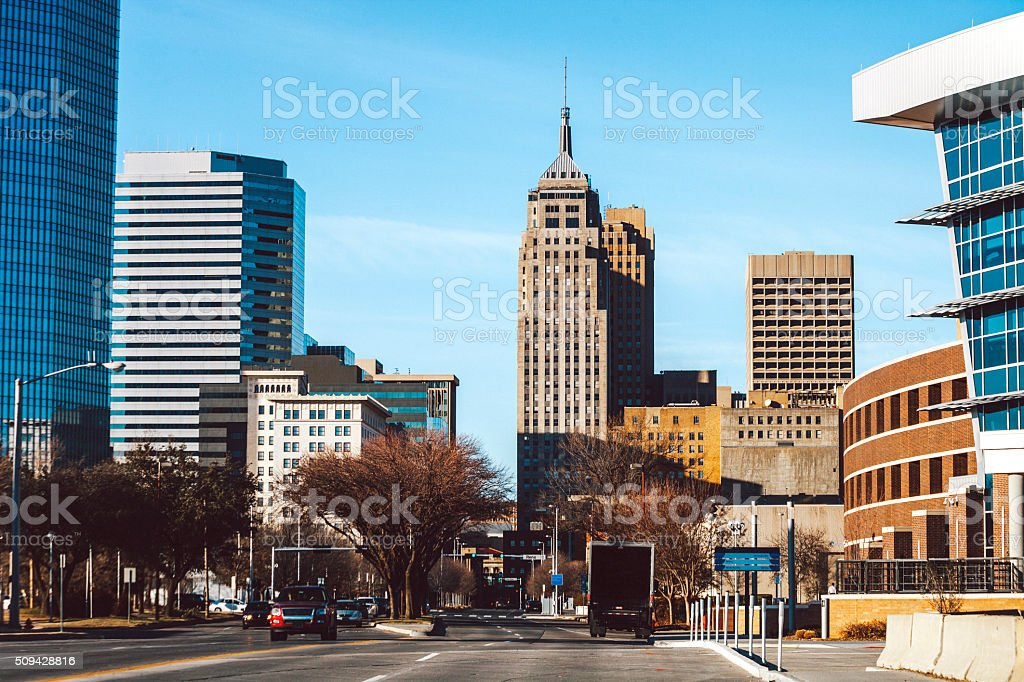 Oklahoma City downtown. stock photo