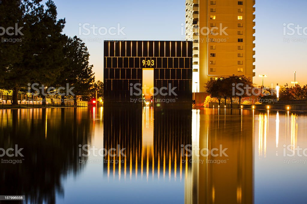 Oklahoma City National Memorial - West Gate stock photo