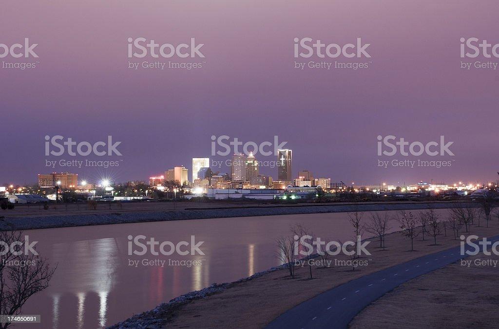 Oklahoma City Skyline at Dusk royalty-free stock photo