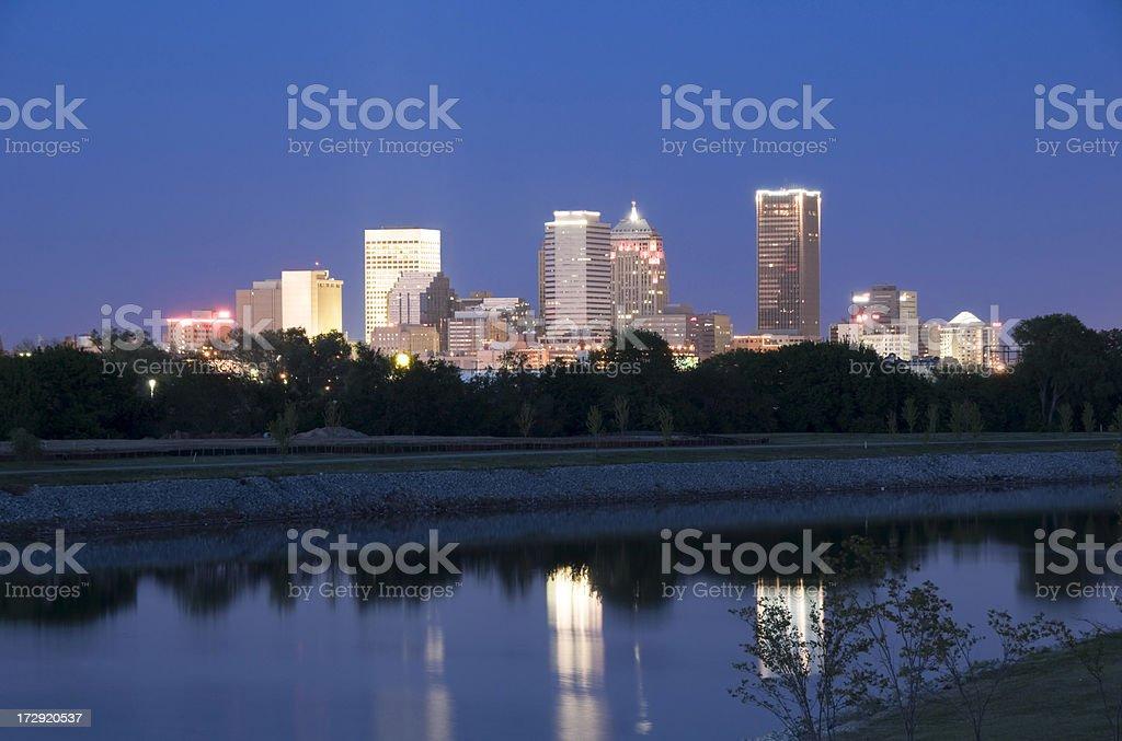 Oklahoma City Skyline at Twilight royalty-free stock photo