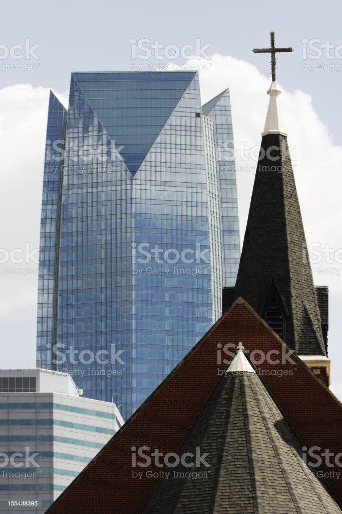 Oklahoma City Skyline Church Office Building royalty-free stock photo