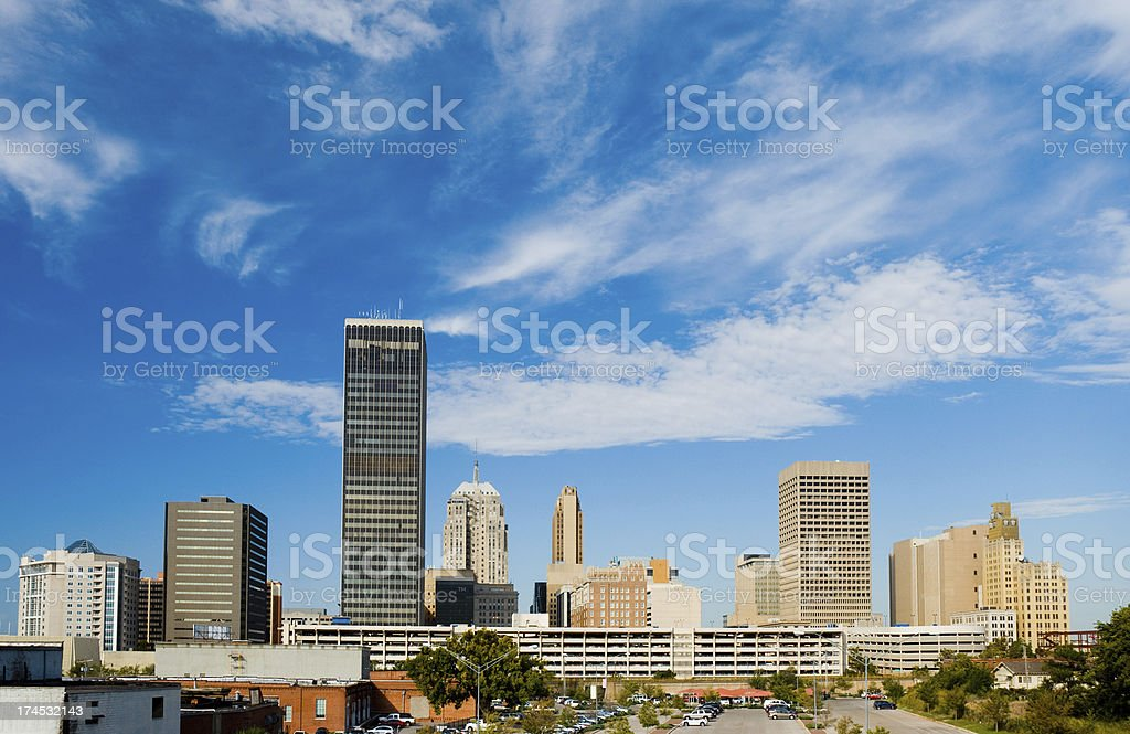 Oklahoma City skyline during the day stock photo