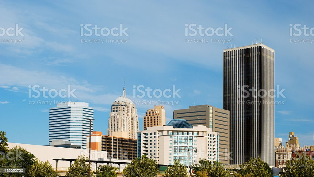 Oklahoma City skyline royalty-free stock photo