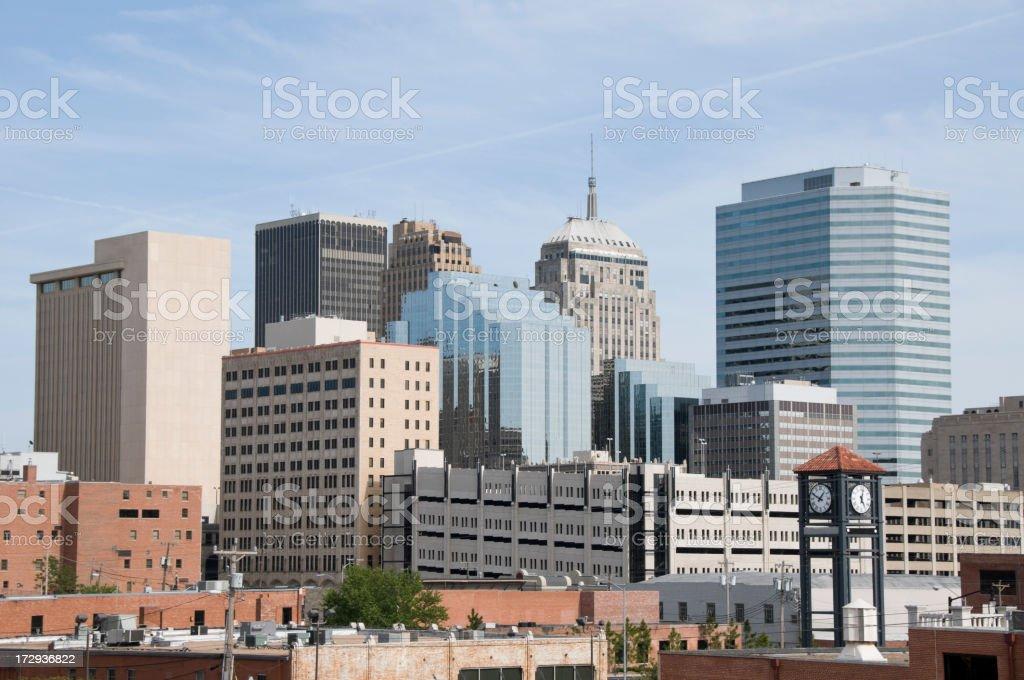 Oklahoma City Skyline royalty-free stock photo