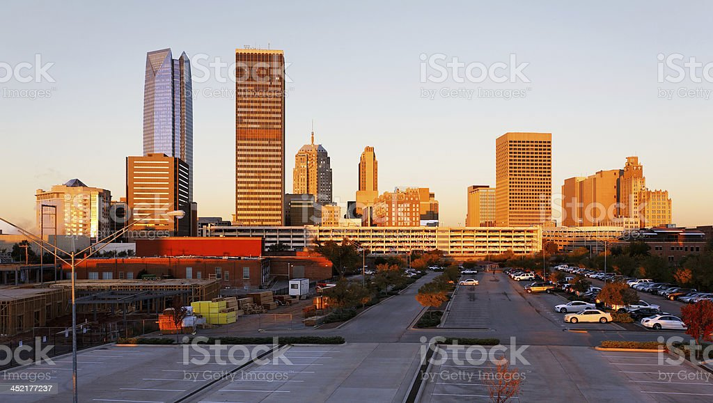 Oklahoma City Sunrise stock photo