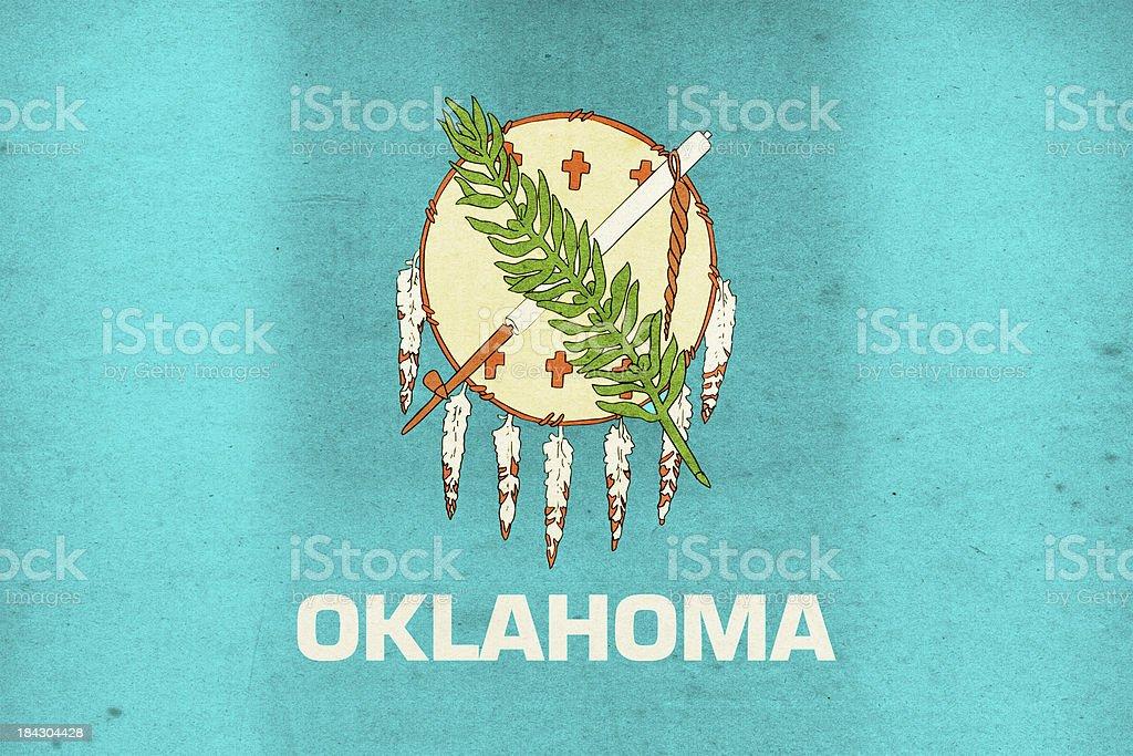 Oklahoma Flag Close-Up (High Resolution Image) stock photo