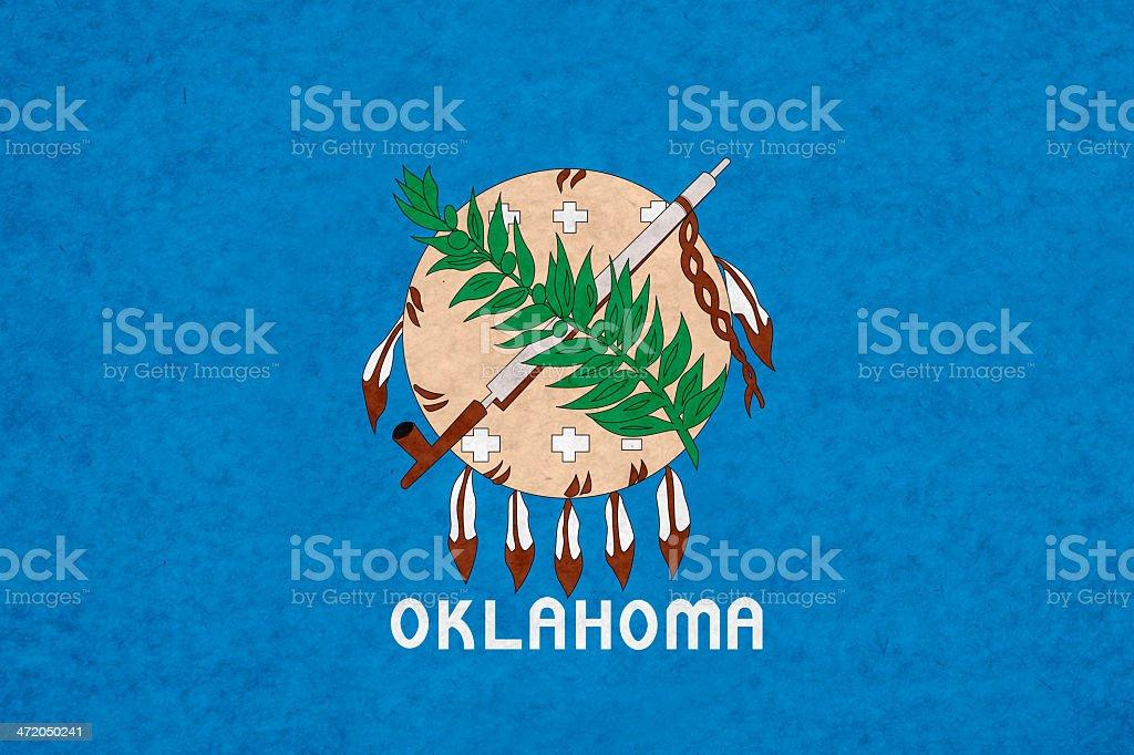 Oklahoma flag stock photo