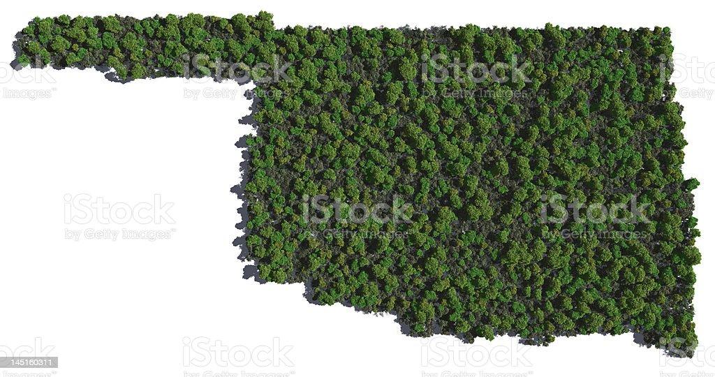 Oklahoma in Trees royalty-free stock photo
