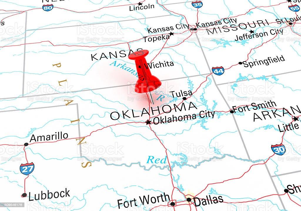 Oklahoma Map stock photo