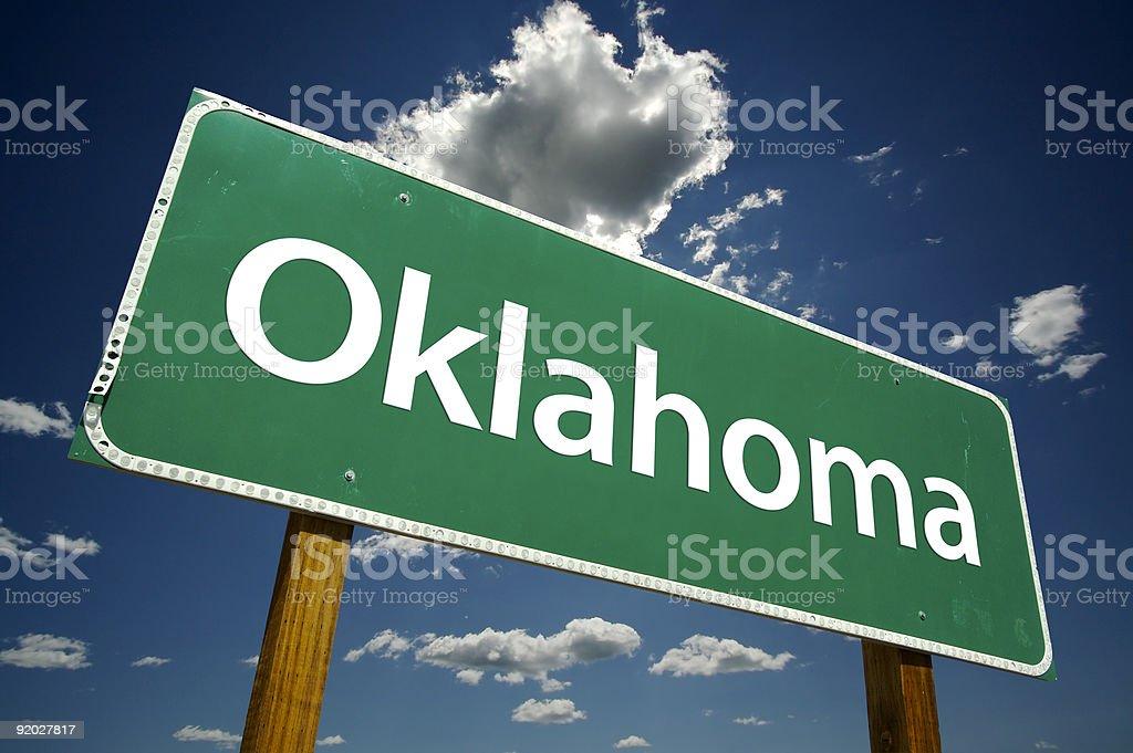 Oklahoma Road Sign stock photo