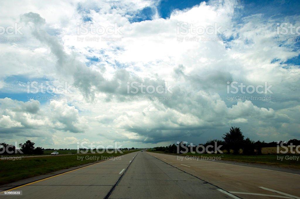 Oklahoma Roadway royalty-free stock photo