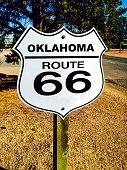 Oklahoma Route 66 Signpost