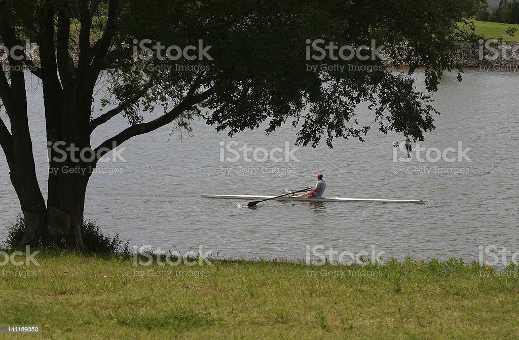 Oklahoma Row Boating stock photo