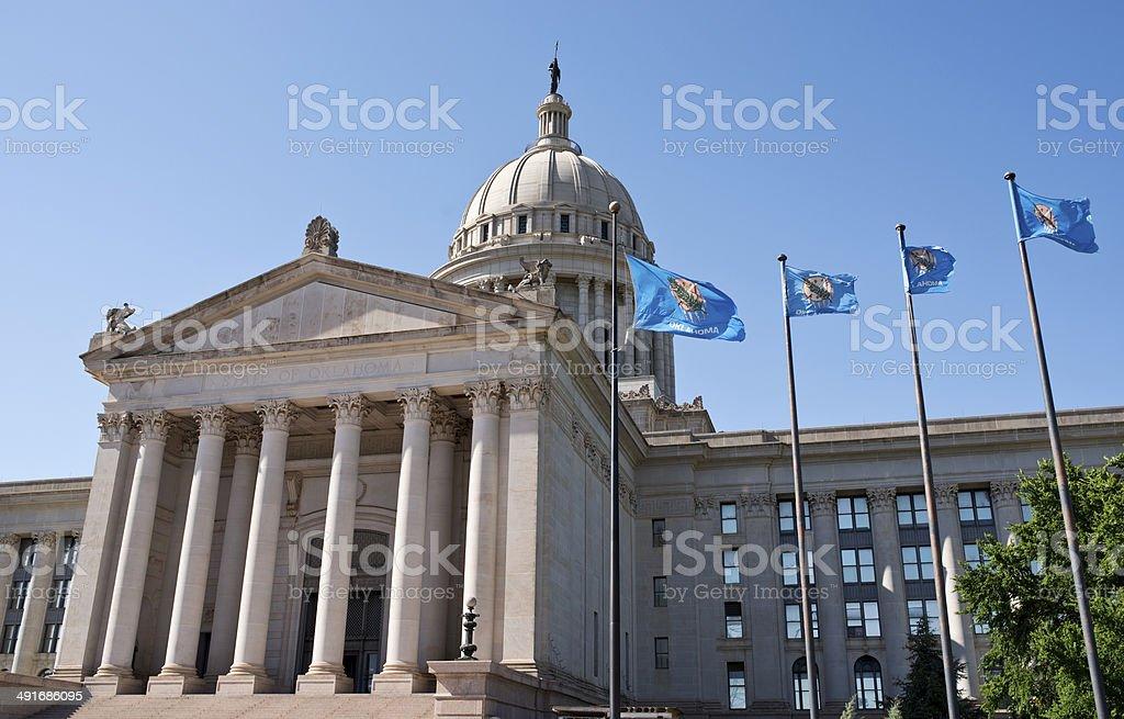 Oklahoma State Capital building. stock photo