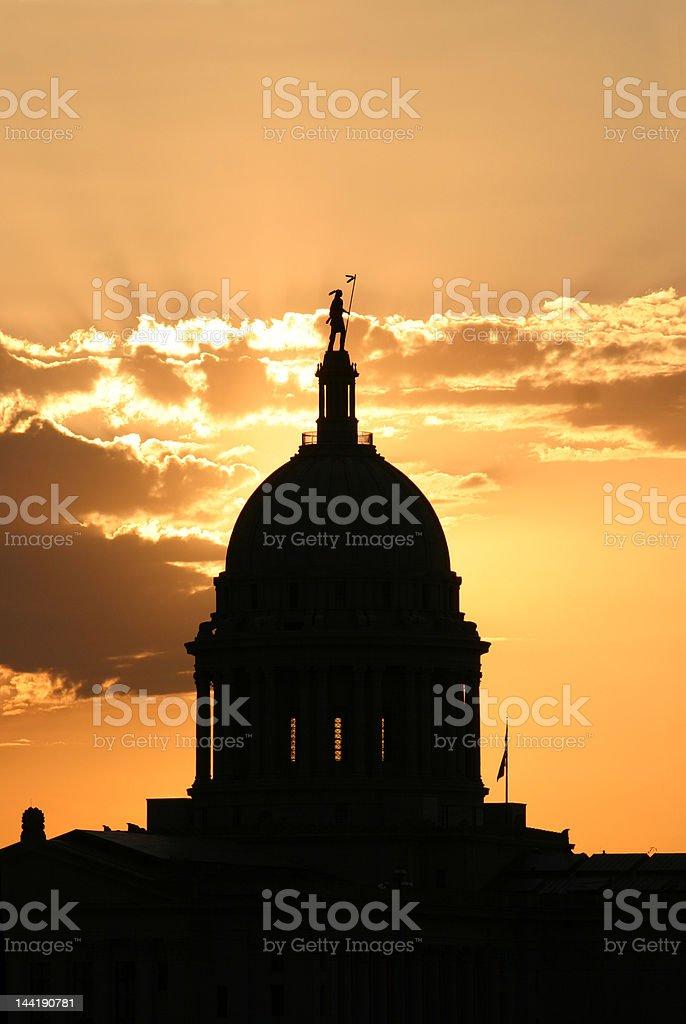 Oklahoma State Capital stock photo