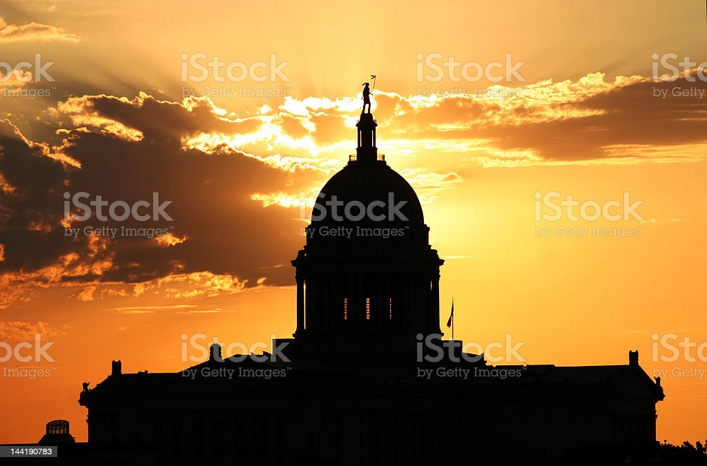 Oklahoma State Capital royalty-free stock photo