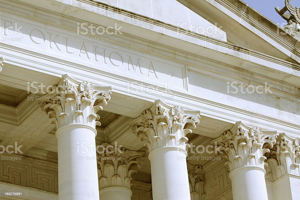 Oklahoma State Capitol Building royalty-free stock photo