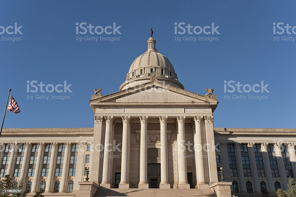Oklahoma state capitol stock photo