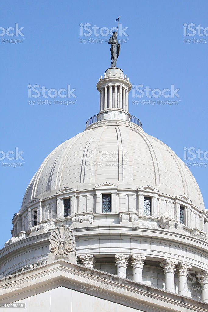 Oklahoma State Capitol royalty-free stock photo